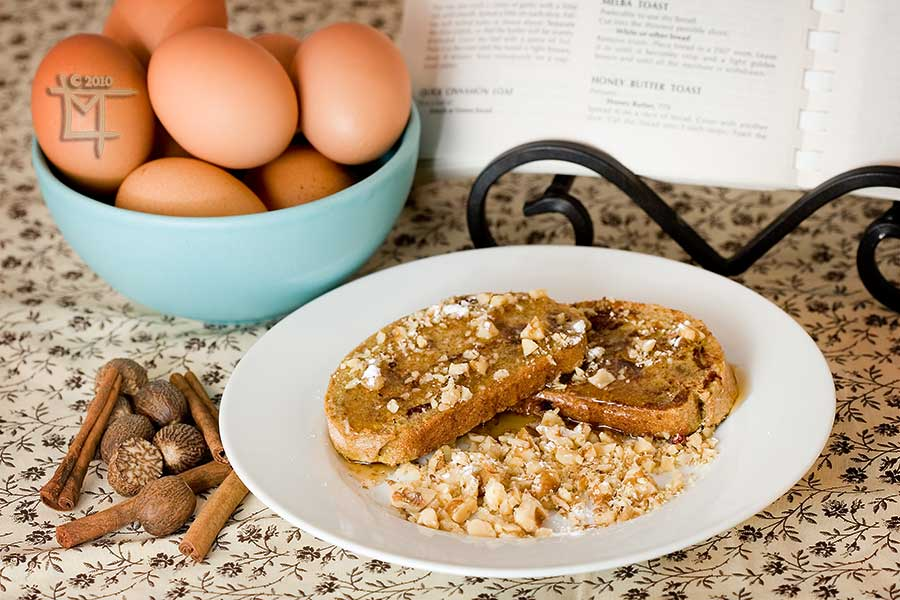 Cranberry-Pecan Rye Bread French Toast