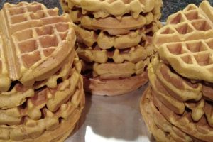 Breakfast for dinner  whole wheat pumpkin waffles with thehellip