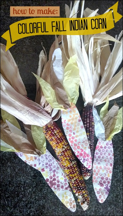 how to make a fall indian corn craft