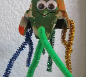 Egg Carton Octopus