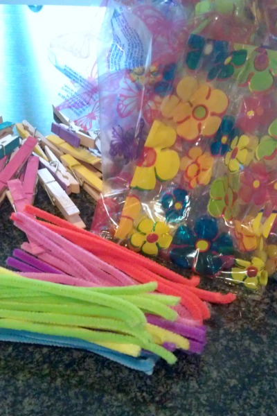 Butterfly themed party treat bags