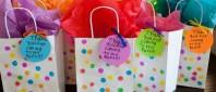 Polka-dot art party favor bags