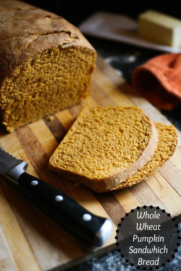 whole wheat pumpkin sandwich bread recipe