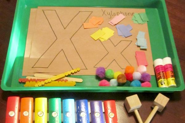 letter X preschool activity