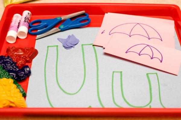 preschool letter u activity