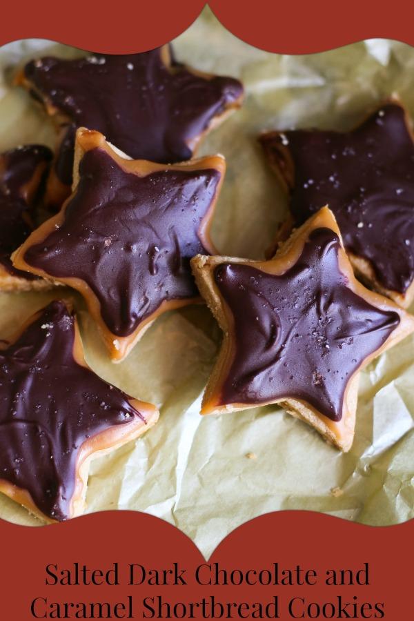 Salted Dark Chocolate and Caramel Shortbread Cookie Recipe