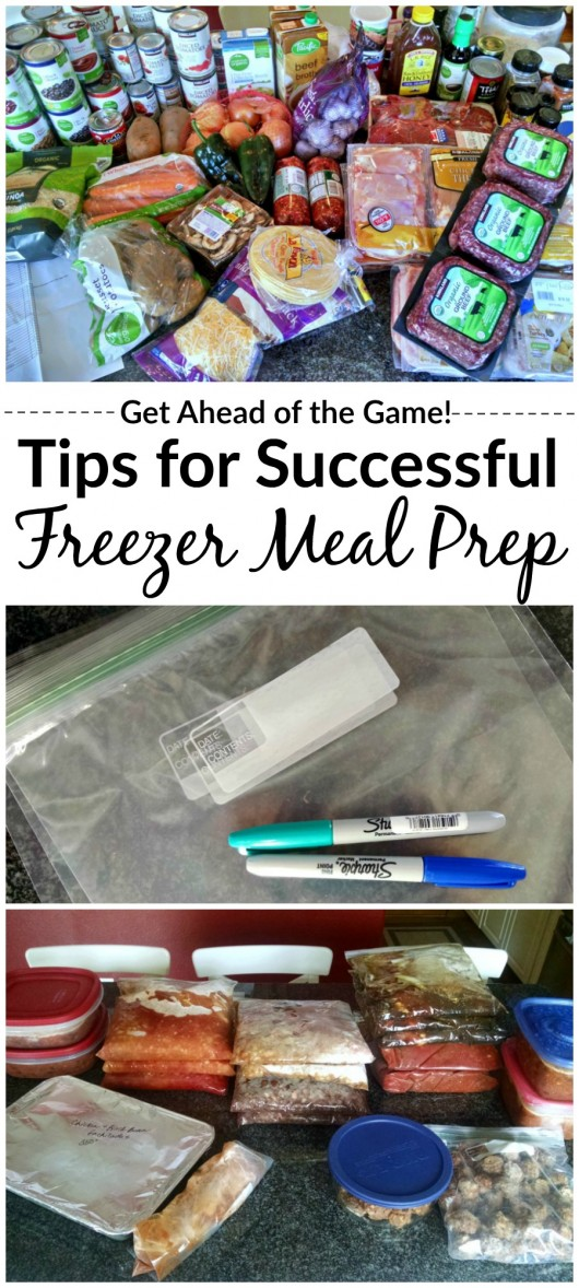 Great tips for successful freezer meal prep sessions!