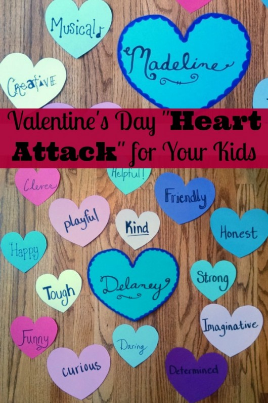 I love this Valentine's Day Heart Attack for your kids. My kids would love this!