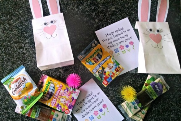 Spring bunny craft: adorable bunny treat bags!