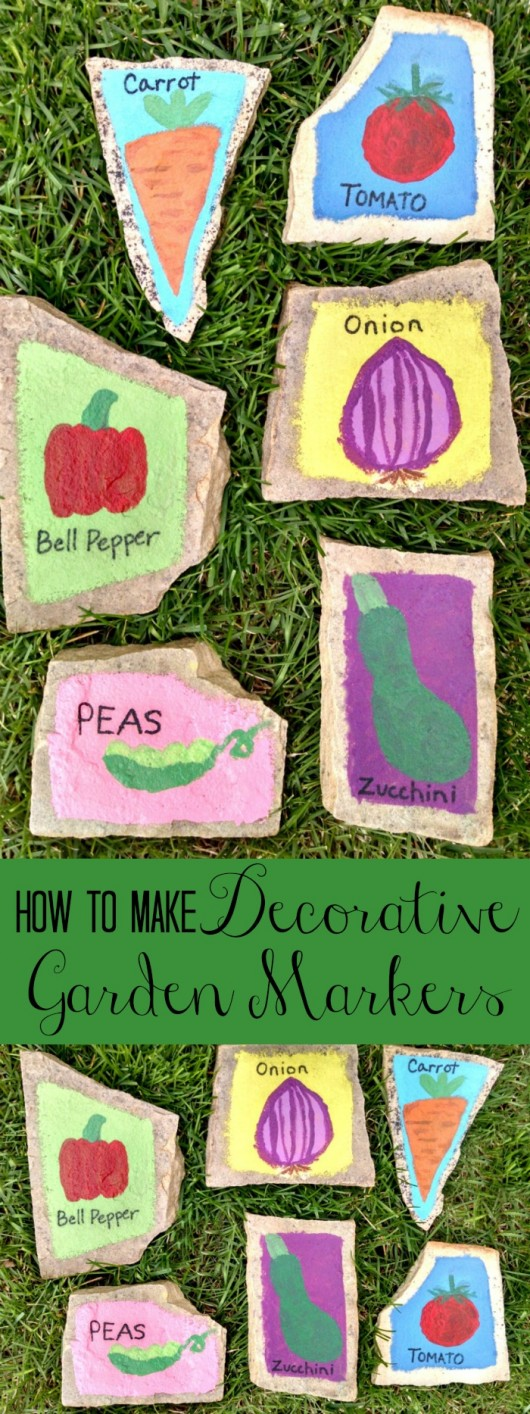 How to make decorative garden markers. These would be a great homemade gift. // evolvingmotherhood.com