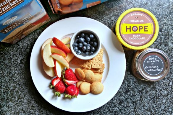 Dark Chocolate Hummus from HOPE Foods makes great snack that feels like a treat.