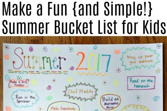 Making a summer bucket list with kids