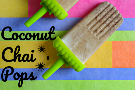 Frozen coconut chai ice pops are a creamy and wonderful summer treat // evolvingmotherhood.com