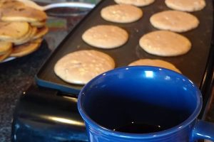 Saturday morning Coffee cartoons pumpkin chocolate chip pancakes  hellip